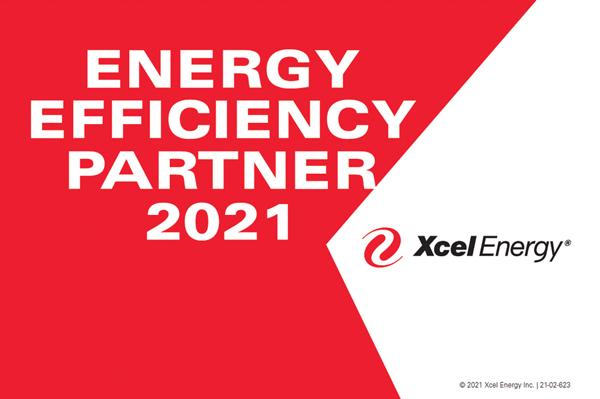 2021 Energy Efficiency Partner Award presented by Xcel Energy to Enabled Energy